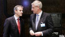 Swedish MFA Carl Bildt and Norwegian MFA Jonas Gahr Störe